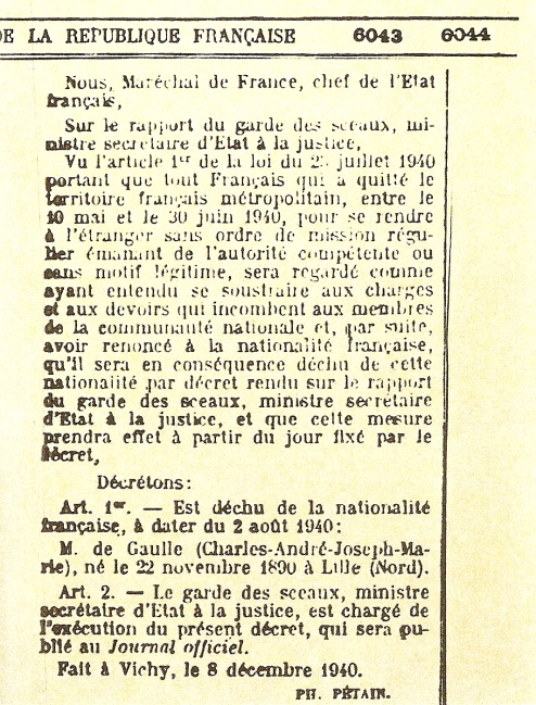 decheance-nationalite-de-gaulle