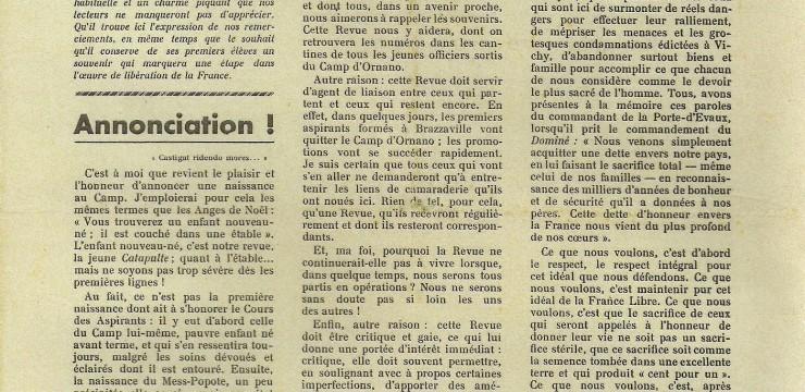 Les élèves officiers de la France Libre