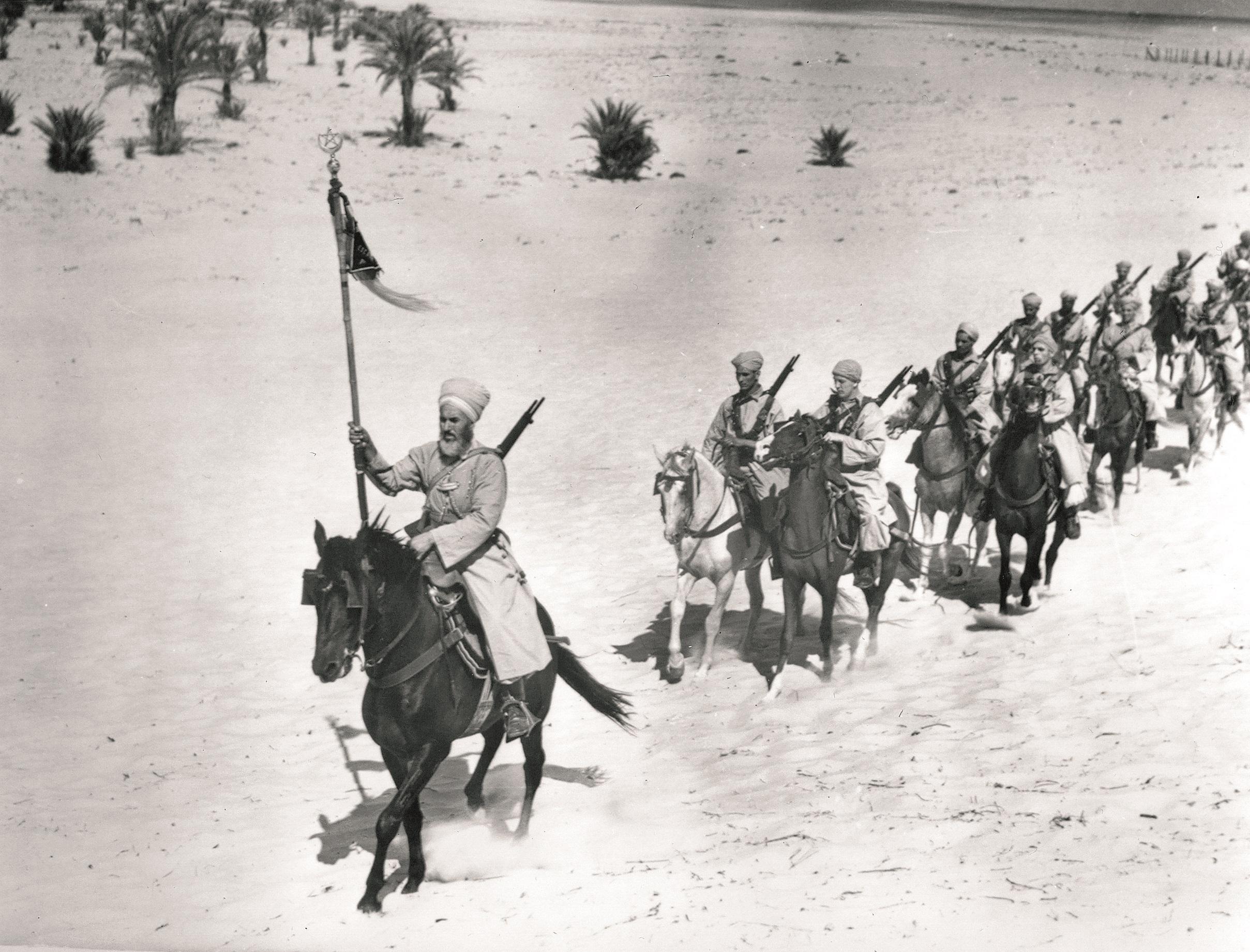 Le ralliement du 1er escadron du 1er régiment de spahis marocains