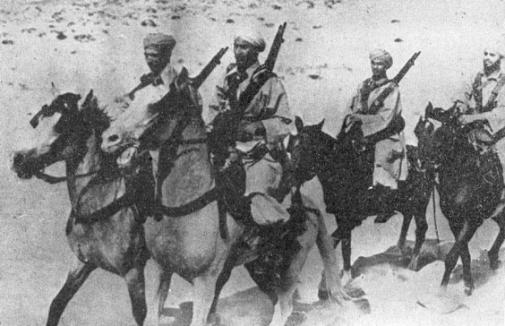 Le 1er escadron du 1er régiment de marche de spahis marocains