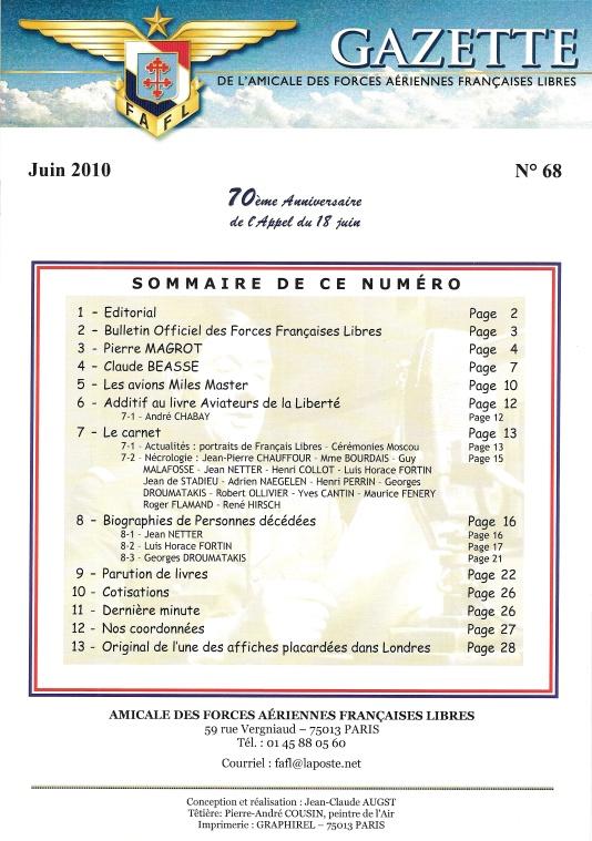 Gazette de l'Amicale des FAFL, n° 68 (périodique)