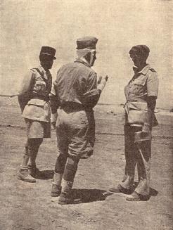 Le général Koenig après la sortie de Bir-Hakim (RFL).