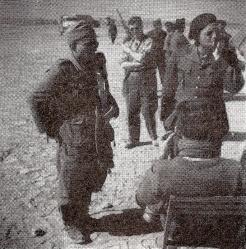 Bir Hakeim : l'interrogatoire d'un prisonnier (RFL).