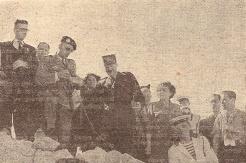 Le colonel Saint-Hillier fait son exposé (RFL).
