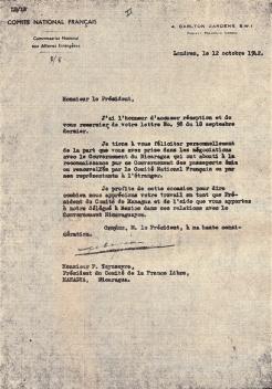 Lettre à Paul Teysseyre du 12 octobre 1942 (RFL).