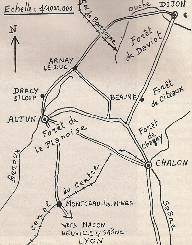 Les fusiliers marins à Autun