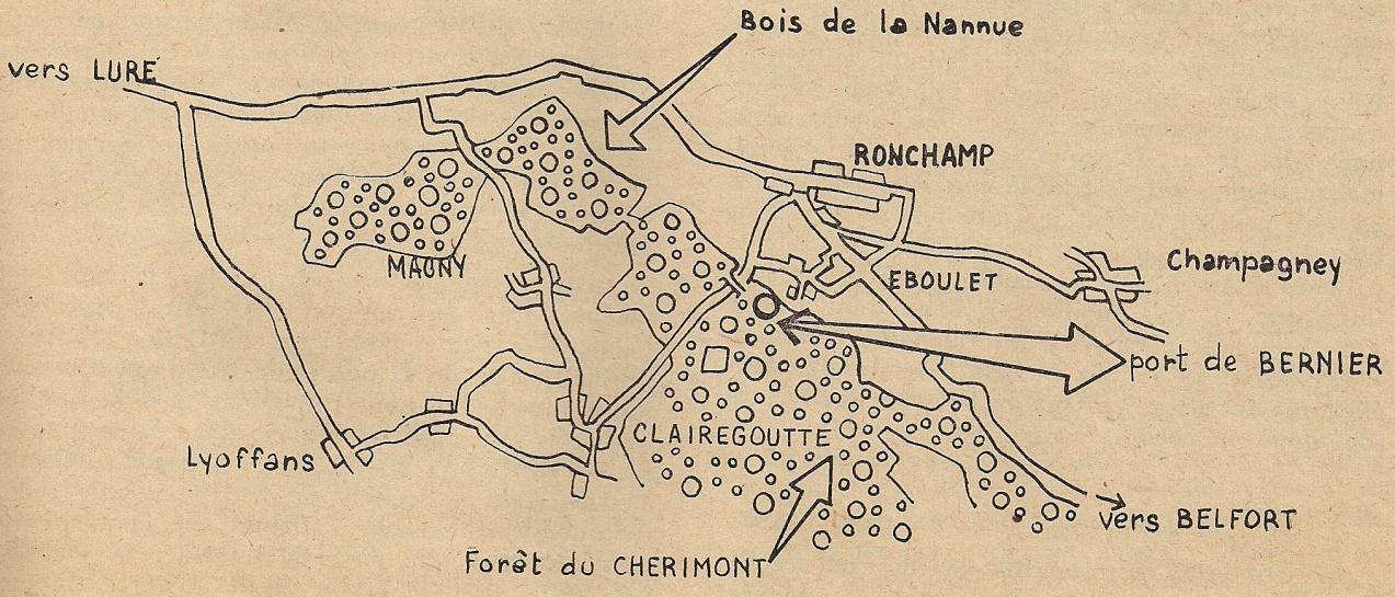 Le premier régiment de fusiliers marins dans la forêt de Chérimont