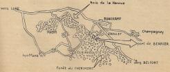 Le 1er RFM dans la forêt de Chérimont (RFL).