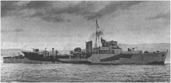 Le destroyer La Combattante (RFL).