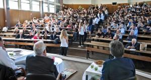 Intervention des lycéens vue de la tribune. (photographie Région PACA-LEGTA Valabre)
