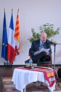 Début de la communication de Georges Daniel. (photographies Région PACA-LEGTA Valabre)
