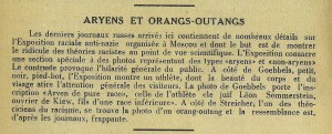 Aryens et orangs-outangs