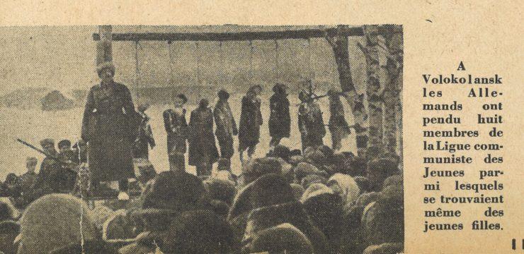 Atrocités allemandes en Russie