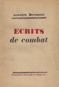 Première de couverture de la première d'Écrits de combat (1942).