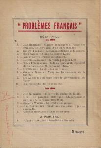 Quatrième de couverture de l'ouvrage avec les autres titres de la collection.