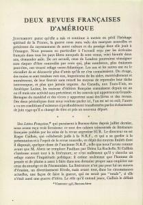 Deux revues françaises d'Amérique