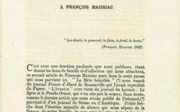 Éditoriaux de Robert Victor/Jacques Baïf dans « France-Orient »
