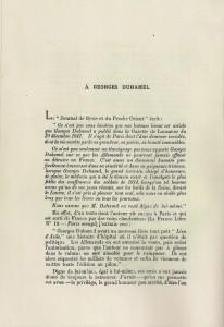 Jacques Baïf A Georges Duhamel