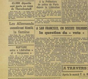 Le Télégramme de Brest & de l'Ouest 29-05-1945