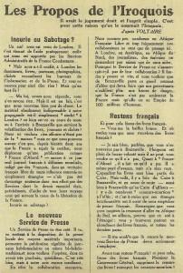 Les Propos de l'Iroquois Le Petit Brazzavillois