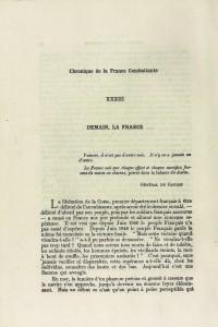 Robert Victor Demain la France