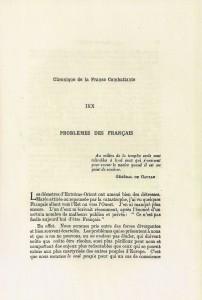 Robert Victor Problème des Français