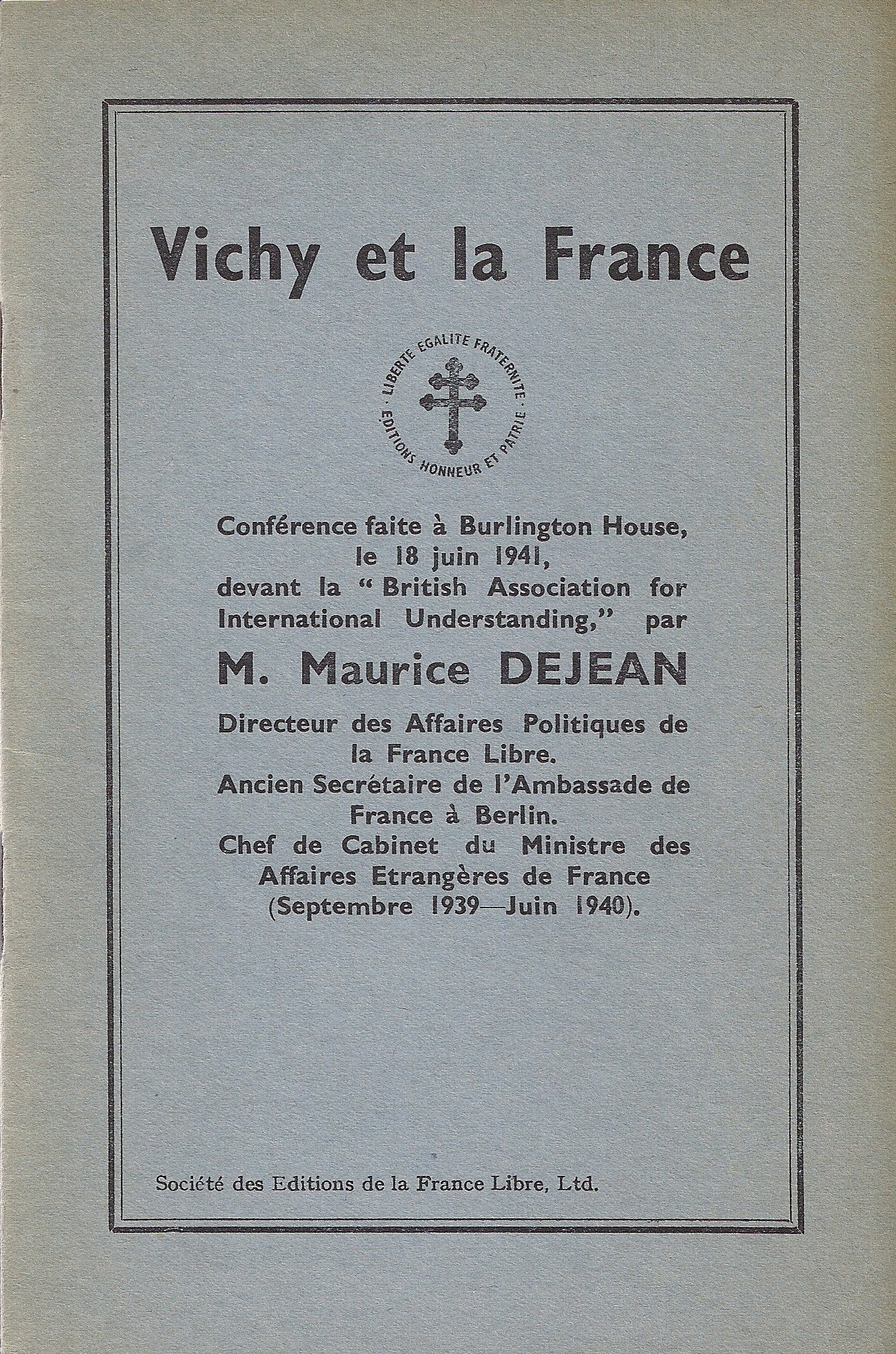 Vichy et la France