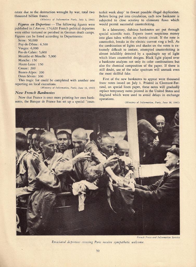 « Free France », vol. 8, n° 2, 15 juillet 1945, p. 50 (© Fondation de la France Libre).