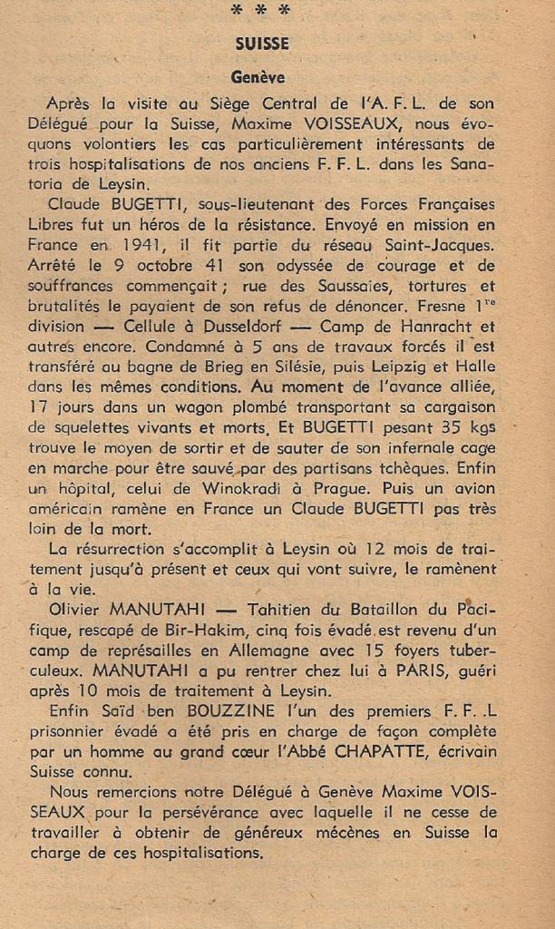 Article paru dans la « Revue de la France Libre », n° 23, décembre 1949, p. 20 (© Fondation de la France Libre).
