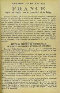 sermon de l'évêque de Münster p. 1