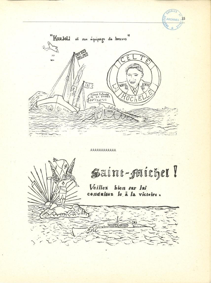 Tracts rendant hommage au Celte et au Surcouf