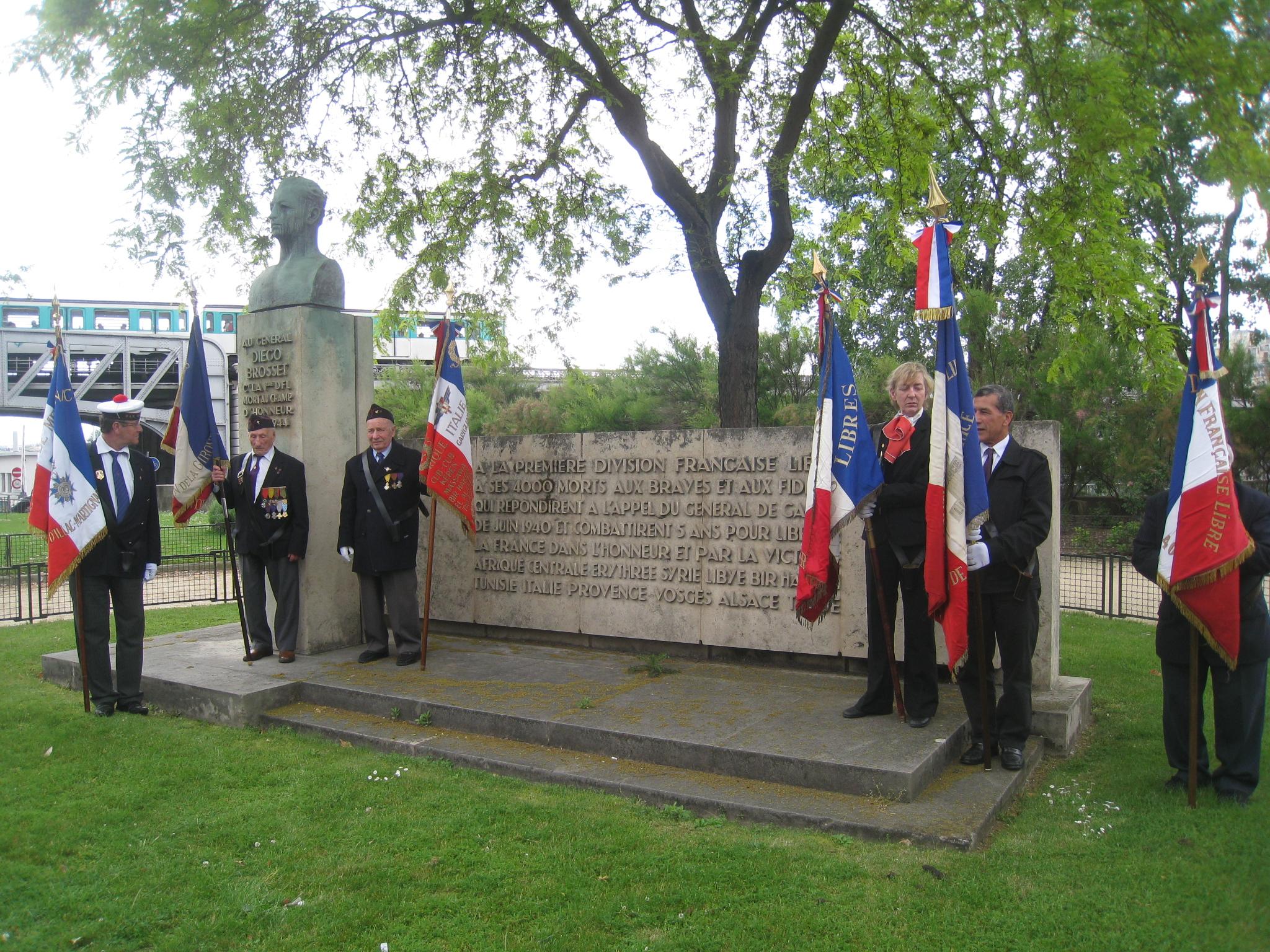 Hommage au général de Gaulle, au général Brosset et aux morts de la France Libre (9 novembre)