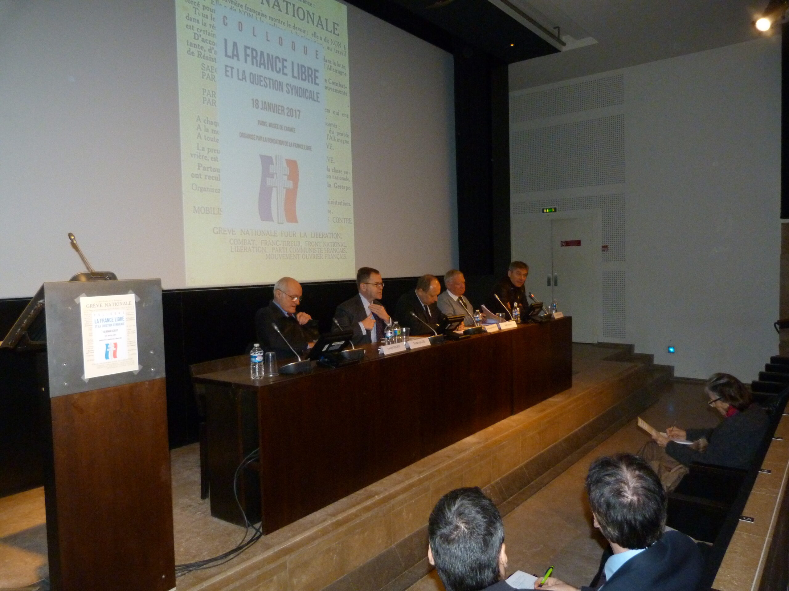 Colloque 2016 : LA FRANCE LIBRE ET LA QUESTION SYNDICALE