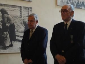Loïc Le Bastard et Fred Moore le 25 novembre 2010 au Musée de l'ordre de la Libération (Fondation de la France Libre).