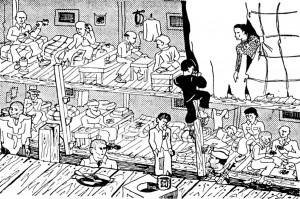 camp de concentration de Miranda baraque