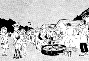 camp de concentration de Miranda soupe