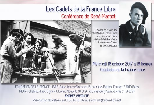 Les Cadets de la France Libre (conférence)