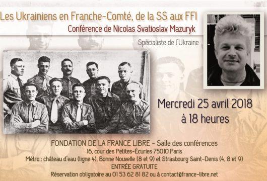 Les Ukrainiens en Franche-Comté, de la SS aux FFI (conférence)
