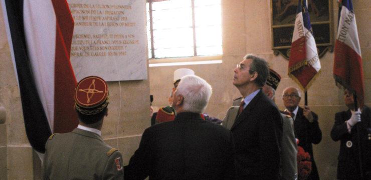 La plaque du maréchal Koenig
