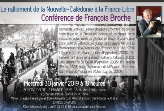 Le ralliement de la Nouvelle-Calédonie à la France Libre (conférence)