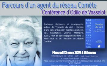 Parcours d'un agent du réseau Comète (conférence)