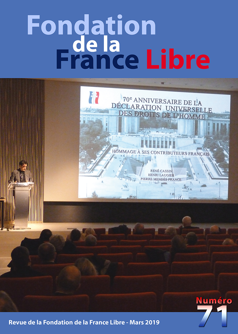 Fondation de la France Libre, n° 71, mars 2019