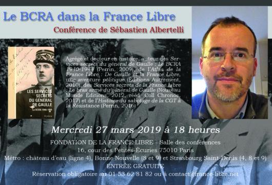Le BCRA dans la France Libre (conférence)
