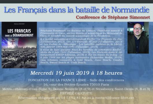Les Français dans la bataille de Normandie (conférence)