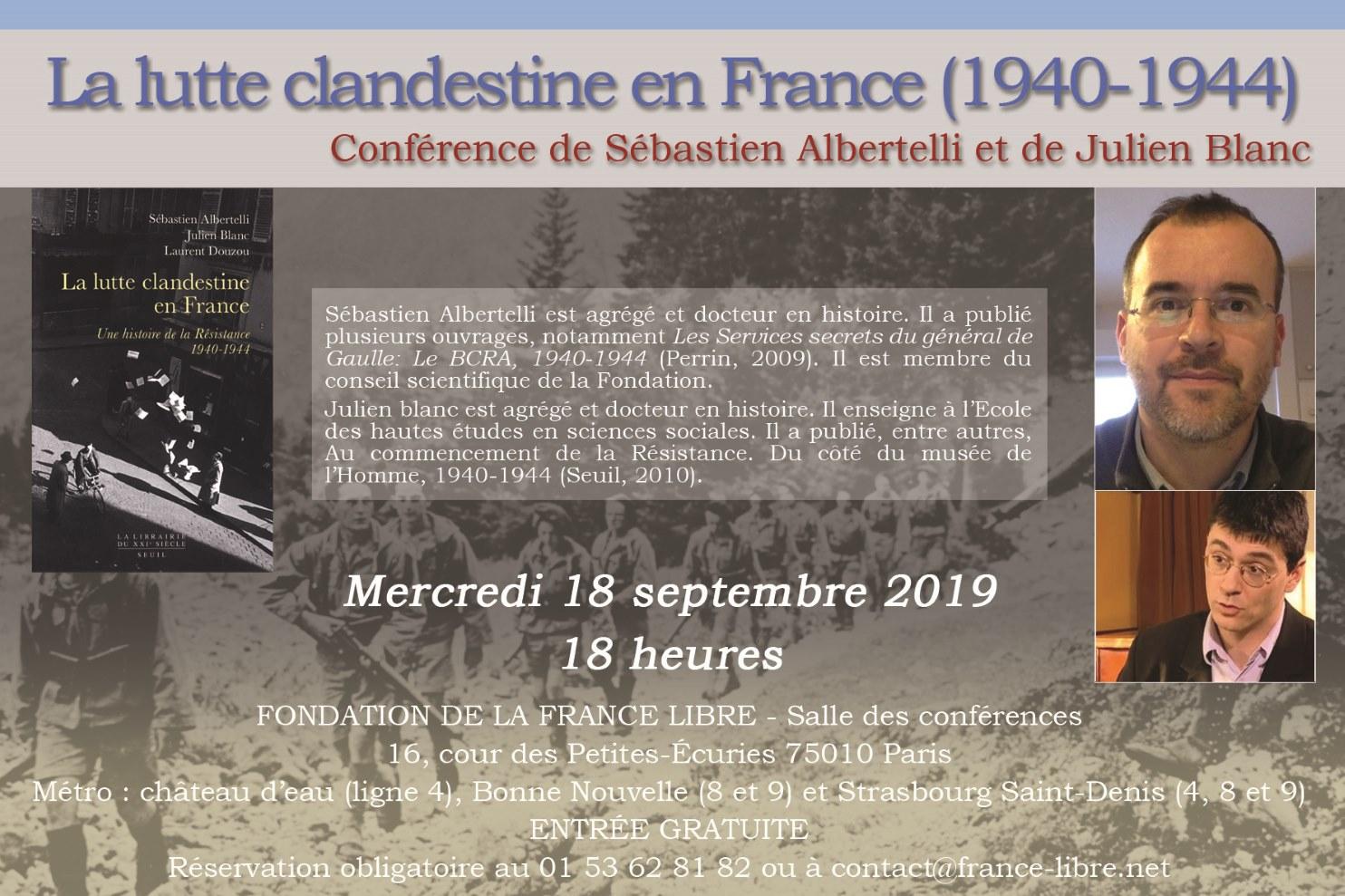 La lutte clandestine en France entre 1940 et 1944