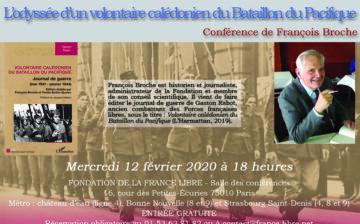 L'odyssée d'un volontaire calédonien du Bataillon du Pacifique, 1941-1944 (conférence)