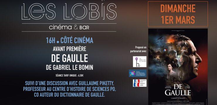 Projection en avant-première du film De Gaulle à Blois