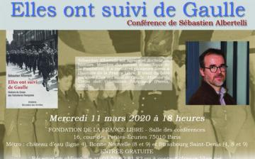 Elles ont suivi de Gaulle : histoire du Corps des Volontaires françaises (conférence)