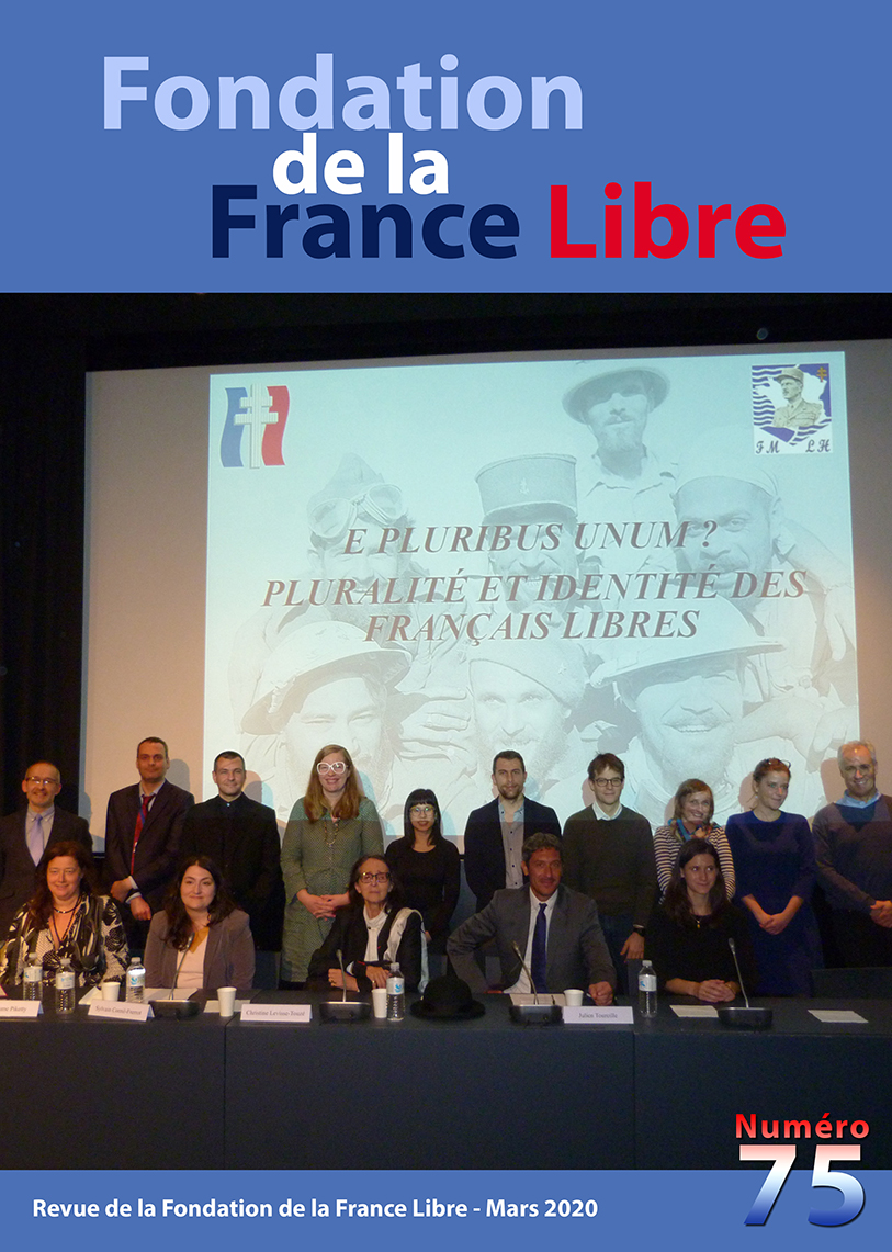 Fondation de la France Libre, n° 75, mars 2020