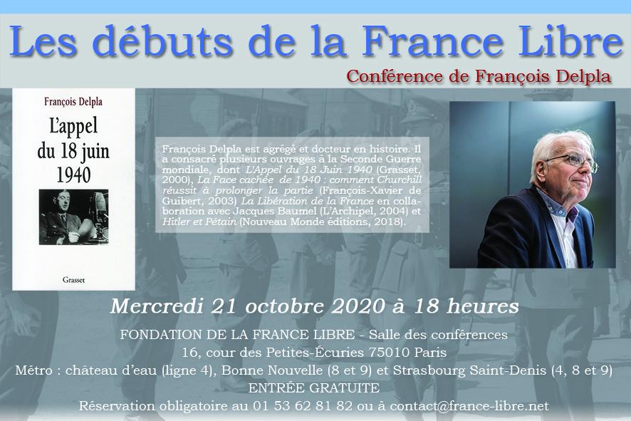 Les débuts de la France Libre (conférence)